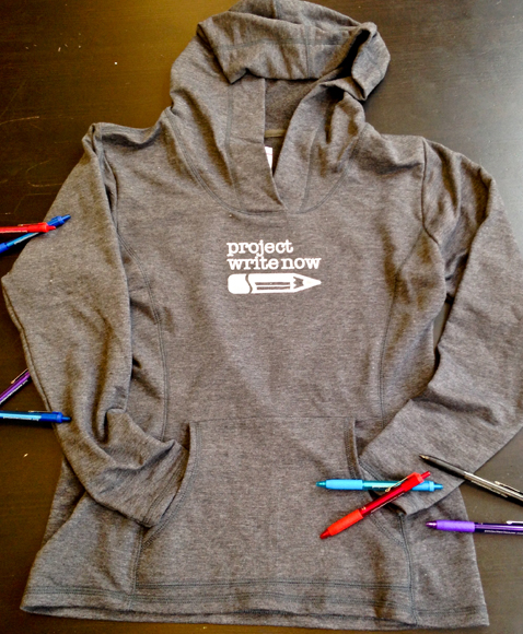 Project Write Now - Gray Hoodie